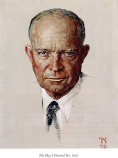 """The Day I Painted Ike"" by Norman Rockwell. I love Eisenhower. So calm yet cool."