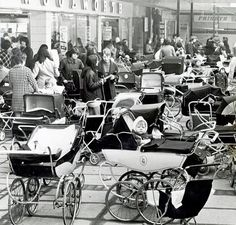 We take a look down memory lane at the shops across Birmingham over the decades. From busy markets to old favourites as the face of the high street changes. Pram Stroller, Baby Strollers, Vintage Pram, Coventry City, Prams And Pushchairs, Photographs And Memories, Dolls Prams, Baby Buggy, Baby Prams