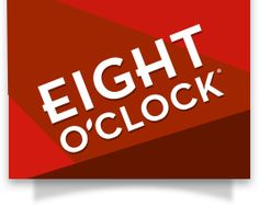 The Eight O'Clock Coffee - Red, White