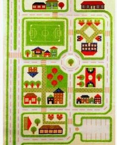 IVI Interactive 3D Play Rug - Green Traffic - Small