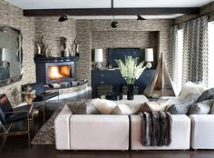 Living Room design photos, ideas and inspiration. Amazing gallery of interior design and decorating ideas of living rooms by elite interior designers. My Living Room, Living Room Interior, Home And Living, Living Spaces, Cozy Living, Modern Living, Living Area, Style At Home, Casa Kardashian