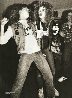 Some young men calling themselves 'Metallica' - Lars Ulrich and Dave Mustaine