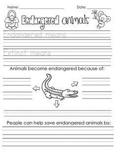 TPT- a follow-up activity to the PebbleGo article on endangered animals