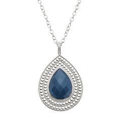 Anna Beck Sterling Silver and Stone Pendant Necklace