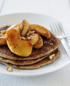 Whole Wheat Walnut Pancake with Brown Butter