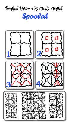 Spooled-Tangle Pattern