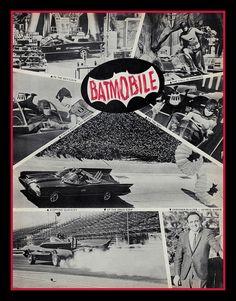 Batmobile feature from a vintage car show program (1960s)