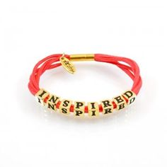 Bracelet INSPIRED, LETTERS collection, gold version http://store.lovya.net/letters-from-your-heart-lovya/188-inspired-gold.html