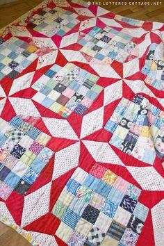 Manta de formas patchwork