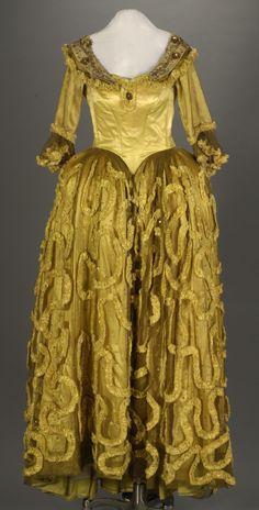 Costume designed by Rene Hubert for Peggy Cummins in Forever Amber (1947).