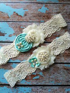 Tiffany wedding garter set / bridal garter/ lace garter / toss garter / vintage lace garter / YOU DESIGN / over 50 colors $29.99