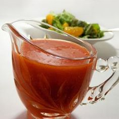 French Salad Dressing is a popular topper for lettuce. Thomas, North Dakota, 'We used this dressing at a drive-in and sold a lot of salads. French Salad Dressings, Salad Dressing Recipes, Salad Recipes, Recipe For French Salad Dressing, Soup And Salad, Pasta Salad, Crab Salad, Food Salad, Sauces