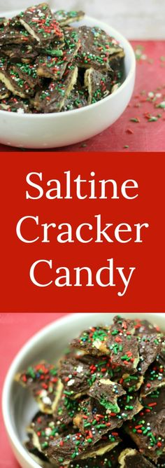 Saltine Cracker Candy | RoseBakes.com  This easy saltine cracker candy is made with saltines, chocolate, and other simple staple ingredients to make a delicious salty & sweet candy perfect for Christmas!  #ReynoldsHoliday #ad #recipe