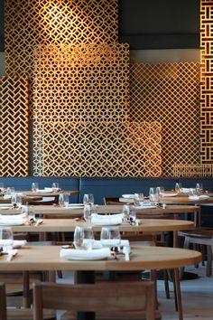 Dining wood lattice wall Bibigo                                                                                                                                                                                 More