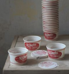 1960's american ice cream tubs - Baileys