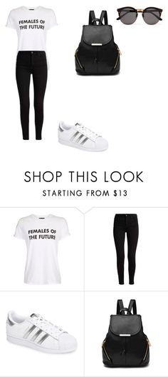 """""""casual"""" by ikatsamaki on Polyvore featuring Topshop, adidas and Illesteva"""