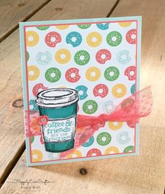 Happily Ever Crafter: Perfect Blend and Cherry On Top DSP. Stampin' Up! Demonstrator, Angie Britt