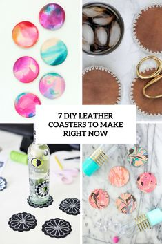7 DIY Leather Coasters To Make Right Now | Shelterness