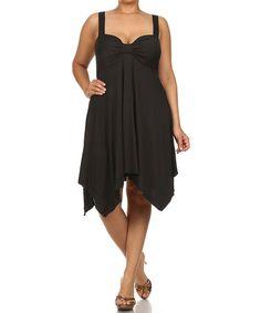 Look at this #zulilyfind! Black Sweetheart Handkerchief Dress - Plus #zulilyfinds