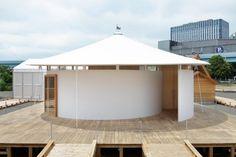 Yuko Nagayama's Hiragana-no Spiral House for Panasonic features a spiralling screen for watching films