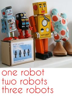 Mila's robots from www.bodieandfou.com