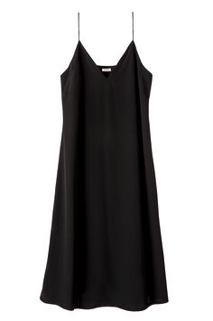 An essential in every style-savvy woman's wardrobe: the silk slip dress gets a sultry spin with beautifully feminine details. Divinely crafted from 25mm silk crepe de chine, its fluid silhouette is cut to flatter the figure. The design's strategically placed back panel and subtle slit at the leg ensure it's as practical as it is poised for every occasion. This piece is as ideal paired with minimalist heels for evening affairs, yet will read demure for day with simple sandals and a crisp…