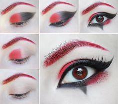 Harley Quinn Makeup Tutorial #halloween2015 #eyetutorial #lizbreygel - bellashoot.com