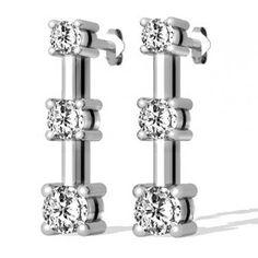 Diamant Ohrringe mit 1.00 Karat Diamanten aus 585er Weißgold. Diese Diamantohrringe sind für nur 1299.00 Euro bei www.juwelierhausabt.de erhältlich.