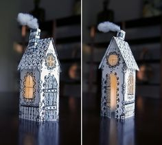 Paper house by Alberto Cerriteño #cerriteno #paper #house #fold #doll #lantern #miniature