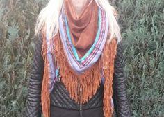 Ibiza scarf brown