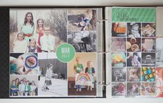 Monthly Photo Collages + Project Life. #photocollage #instagram #projectlife