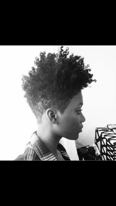 Natural hair tapered
