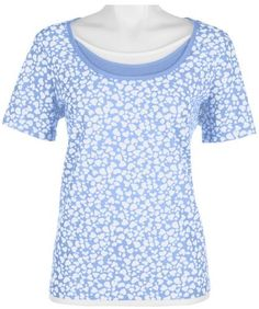Petite Coral Bay Petite Short Sleeve Heart Print Top Coral Bay. $14.99