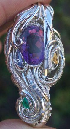 ©Nick Tendai Cooney x Robert Whitehead  #wirewrap #jewelry #wirewrapjewelry