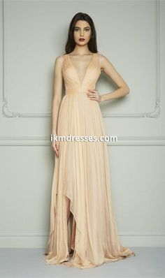http://www.ikmdresses.com/Chiffon-Prom-Dresses-Pale-Yellow-Deep-V-Neck-Front-Split-Cap-Sleeve-Pleat-Zipper-Back-Evening-Gowns-Floor-Length-p92345