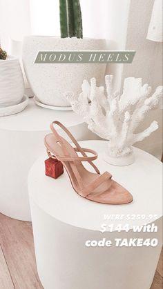 Designer Heels, Suede Leather, Block Heels, Nude, Shoes, Zapatos, Shoes Outlet, Shoe, Footwear