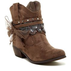 Wet Seal Slouchy Cowboy Boots ($30) ❤ liked on Polyvore featuring ...