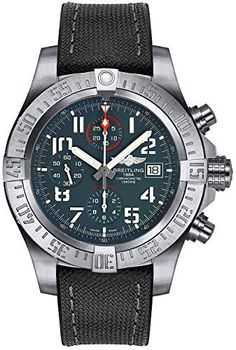 Breitling Avenger Bandit Grey Titanium Dial Titanium Case and Black Diver Pro III Rubber Strap Men's Watch Men's Watches, Breitling Watches, Sport Watches, Luxury Watches, Cool Watches, Watches For Men, Breitling Chronograph, Fine Watches, Casual Watches