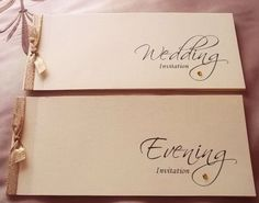 PERSONALISED CHEQUE BOOK STYLE WEDDING INVITATIONS | eBay
