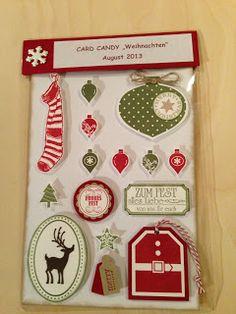 """Heikes Kreativseite: Card Candys zum Thema """" Weihnachten """""""