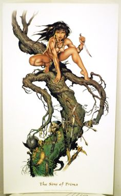 Details about DAVE STEVENS ART PRINT/SINS OF PRIMA NM COND