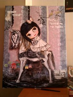 pintura tecnica mixta.oleo,acrilico,textura,papel,tinta china. titulo:nunca abandones un sueño. lienzo 80x60x2.
