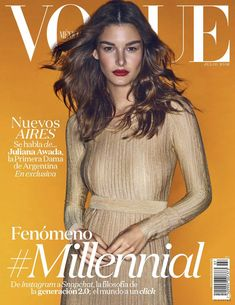 Ophelie Guillermand featured on the Vogue Mexico cover from July 2016