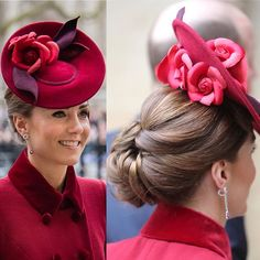 We couldn't be more obsessed with Kate's stunning updo today at the Commonwealth Service 😍👑 Prince William And Kate, William Kate, Duchess Kate, Duchess Of Cambridge, Fashion Models, Kate Middleton Hair, Plum Hair, Princesa Kate, Catherine The Great