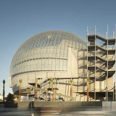 """Renzo Piano Building Workshop on Instagram: """"#comingsoon : the additions to @academymuseum that date from 1946 have been removed and replaced with a spherical building that features…"""" Renzo Piano, Architects, Opera House, Workshop, How To Remove, Dating, Building, Instagram, Atelier"""