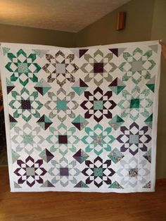 Fireworks quilt pattern by Moda All fat quarters used for colors.