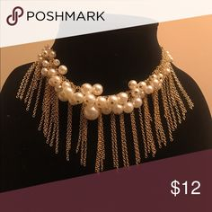 PEARL CHOKER Gold choker with pearls!!!! New !!! 1 available!, Perfect for necklace lovers! ❤INCLUDES Earrings Jewelry Necklaces