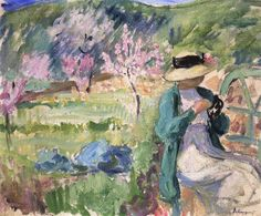 Girl in an Orchard by Henri Lebasque (France)