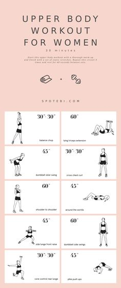 30-Minute Upper Body Workout For Women