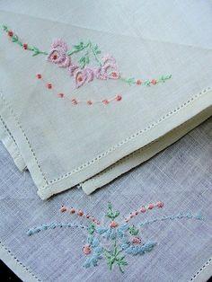 1920s Vintage Embroidered Hankies